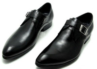 Loafers atmospheric layers - Hot Sale New Fashion RIANCESS first layer of leather buckle men pointed a simple dress shoes to help low atmospheric