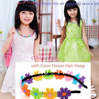Wholesale Korea Style Kids girls Floral Dress Embroidery sleeveless Dress Kids Sundress with Flower Hair Hoop B_190 B_197