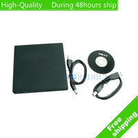 Wholesale High Quality USB Slim External Rewriteable DVD RW Drive DVD Burner EMS UPS DHL HKPAM CPAM