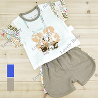 Boy Spring / Autumn Short New Cute kids clothing set Camera Pattern Baby boy set Shirt T-shirt & Shorts Baby suit for summer 13114