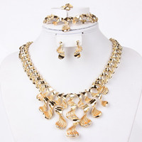 Wholesale brand new fashion necklace set african costume jewellery set k gold plated bridal wedding rhingstone dubai latest indian party accessories