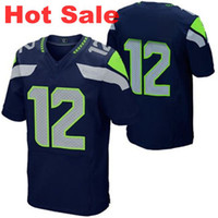 Wholesale Hot Sale Seahawks th Fan Elite Jersey Navy Blue Brand Sports Jerseys for Men High Quality Players Uniform Mix Order