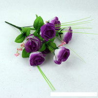 Wholesale silk flowers Simulation purple rose flowers artificial flowers wedding party home decorations fake flower roses bouquets