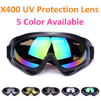 Wholesale 5 Lens X400 UV Protection Outdoor Sports Ski Skate Snowboard Goggles Motorcycle Off Road Cycling Goggle Glasses Eyewear Lens Sunglasses