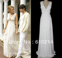 Actual Images A-Line Sleeveless Greek Goddess Blake Lively Floor Length Party Occasion Gown Flowing Chiffon A Line Celebrity Dress