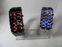 Wholesale fashion LED casual Watch Lava Samurai for Women Ladies Bracelet digital Wristwatches men Sport LED bright Watches DHL