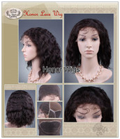 Wholesale 100 Human Virgin Indian Hair Good Price Soft Full Lace Wigs for Womens European Style Black Cheap Wigs g inches Remy Fashion Hair
