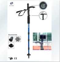 Trekking Poles Rubber Hiking Adjustable AntiShock Outdoor Hiking Cane Trekking Pole Telescopic Walking Stick Crutches With Compass