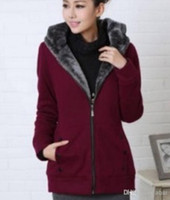 Cotton Cardigan Women Winter Women's clothing sweatshirts New Hoodie Zipper Thicken Cardigan sweatshirts Fleece Korean Hoodie sweatshirts Long pattern