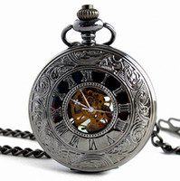 Wholesale Mechanical pocket watch fashion hunter platinum band fashion watch pocket watch mechanical watches Mechanical Pocket Watch Men