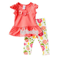Wholesale clothing set baby clothing clothes sets baby clothing sets baby bodysuits GYMBOREE girls set TK1737 orange red x