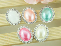 Wholesale 20pcs mm Mix colors Oval Flatback Diamond Rhinestone Crystal Pearl Cluster Scrapbooking Craft