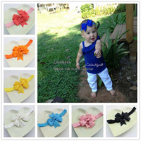 Headbands Polyester Solid Kids Hairbands Bows Princess Headbands Baby Hair Accessories Girls Cute Bowknot Headbands Hair Things Childrens Accessories Fashion Headwear
