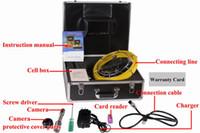 achat en gros de sewer camera-Freeship câble de 50m tuyaux système de caméra d'inspection des égouts mur, 7