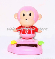 8-11 Years Multicolor Plastic Solar Power MONKEY TOY Nohohon Hidamari No Tami Bobble Head Flip Flap Kids Fun Gift 400pcs by DHL Fedex free shipping