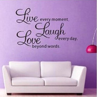 Wholesale S5Q DIY Live Laugh Love Quote Vinyl Decal Removable Art Wall Stickers Home Decor AAABPY