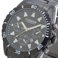 Wholesale CURREN Luxury Brand Men s Watches with Calendar Stainless Steel Strap Japan Movt Quartz Wristwatch Colors