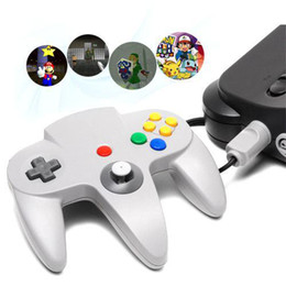Pc shock del sistema en Línea-S5Q nueva moda blanca con cable controlador del juego de la PC para Nintendo 64 N64 Regalo del sistema AAAATN