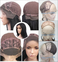 Wholesale 3 color Size Medium Lace cap Lace Front Wig Base Glueless Wig Cap with strap comb Weaving wig caps weave net Uses Best