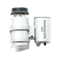 S5Q 45x Mini LED Bombilla joyería lupa de bolsillo lupa del microscopio de reparación de relojes Set AAAAEN