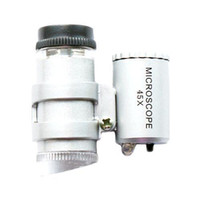 Wholesale S5Q x Mini LED Bulb Pocket Jewelry Magnifier Microscope Loupe Watch Repair Set AAAAEN
