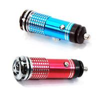 Precio de Car air freshener-Ionizador S5Q azul LED coche Auto oxígeno Bar ambientador humo purificador de aire AAAAEW de vehículos