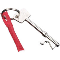 Wholesale S5Q Stainless Steel Vintage Bar Beer Wine Bottle Opener Keychain Keyring Ring AAAAIZ