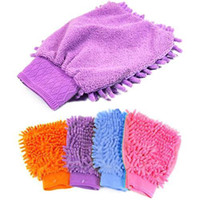 Wholesale S5Q Magic Mitt Microfiber Car Wash Washing Dust Cleaning Glove Home Kitchen Mat AAAARM