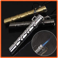 bamboo lighter - Bamboo Style W Cylinder Flint Wheel Jet Flame Windproof Cigarette Cigar Lighter