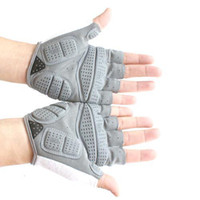 Wholesale S5Q Cycling Bike Bicycle Sports Gel Silicone Antiskid Half Finger Gloves New AAAAYF