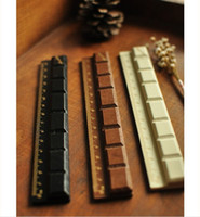 Wholesale Korea stationary chocolate wooden rulers Drawing Supplies