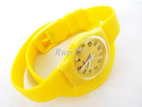 Wholesale New long Plastic Watch strap fashion Bracelet Watch for women CHL01