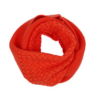 Wholesale Trendy Unisex Knit Cotton Soft Orange Scarf Shawl Wraps Winter Warm DLN2