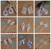 Wholesale Dangle amp Chande jewelry earrings Best gift Marking Fashion Sterling Silver Beautif Earrings Dangle Earrings Mix Order