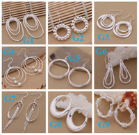 Wholesale mixed Sterling Silver Jewelry drop Earings Brand New Beautif Earrings Dangle Earrings Mix Order