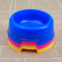 plastic dog bowl - Dog Bowl Pet Supplies Small Size Pet Hamper Plastic Dog Bowl with Different Colors CF010