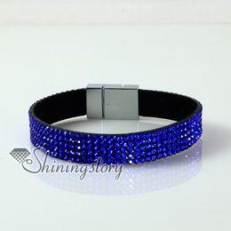 leather crystal rhinestone snap wrap bracelets slake bracelets leather bracelet cheap fashion jewelry warp bracelets