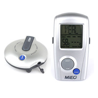 Wholesale Wireless Remote digital food Grill BBQ Oven Thermometer meat steak kitchen cooking thermometer Silver Y1081D