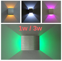 Wholesale 2014 new aluminum Wall Light V W W Red Green Yellow Purple Blue Cool Warm White light LED Wall Lamp Aisle Stair Sconce