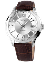Wholesale De Feels Men s F3817GWL Automatic Sapphire Crystal Roman Numeral White Dial Leather Watch