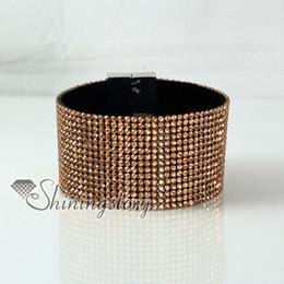 leather crystal rhinestone snap wrap bracelets slake bracelets fashion leather bracelet jewelry