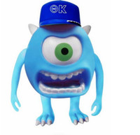 Wholesale YJ Cute Mini cartoon Mike Wazowski Mini speaker portable cartoon speakers Support TF card FM Radio For IPOD MP3 MP4 Free DHL