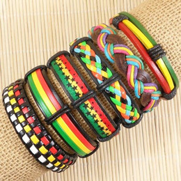 Wholesale Multilayer Weave Wrap Hemp amp Genuine Charm bracelet leathers S138