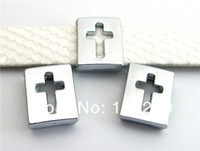 Charm Bracelets slide charms - Brand new mm Hollow Cross Slide Charms DIY charms Fit Pet Collars Wristbands Belts
