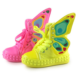 Wholesale Sring Autumn Child Butterfly wings Canvas Shoes Kids Casual Shoes Boys and Girls Fashion Sneakers Absolutely Good Quality Shiny