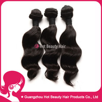 Wholesale 12 A Natural Wave Malaysian Remy Virgin Hair Weave Human Hair Weft Extension pc