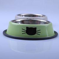 Wholesale Dog Feeder Pet Supplies Stainless Steel Dog Bowl Multifunctional Dog Rice Basin CF030
