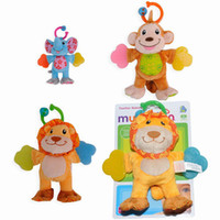 Wholesale Brand New Teether Rattle Plush Baby Babies Munchkin Stuffed Animal Toy Soft