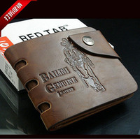 Wholesale Fashion Mens Wallets Cowboy Mens Leather Wallet Pockets Card Clutch Cente Bifold Purse Card Holders