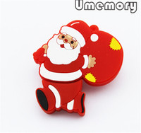 Wholesale Hot Popular Christmas Santa Shape Real Capacity GB GB GB USB Flash Drives Memory Sticks Pen Drives US0420